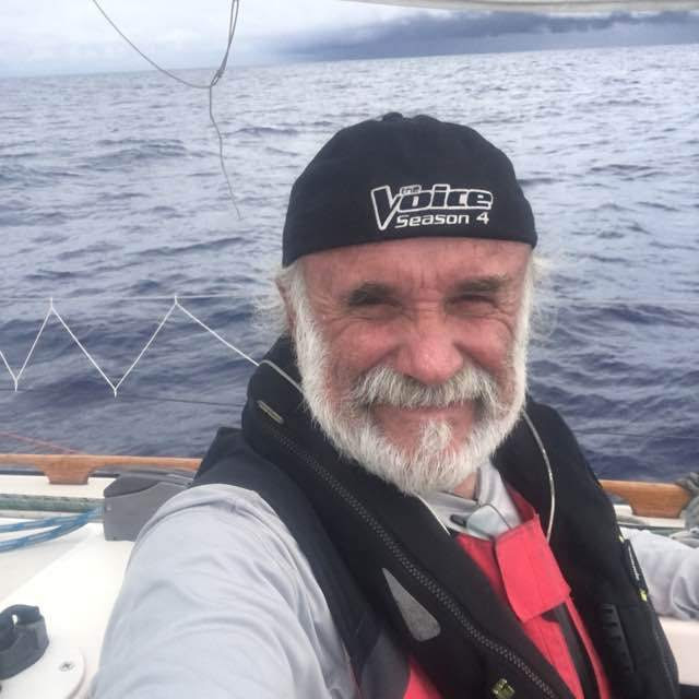 Joe Barry in the middle of the Pacific